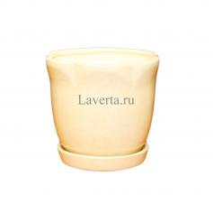 Горшок керамический Лилия с подставкой